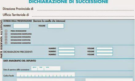 Denunce di successione (finalmente) on line