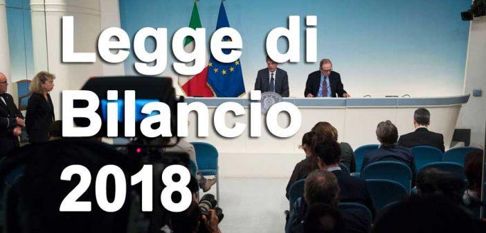 Approvato dal Governo il disegno di legge di bilancio 2018