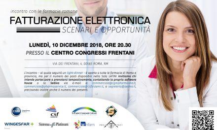 """SERATA-INCONTRO CON LE FARMACIE ROMANE SU """"FATTURAZIONE ELETTRONICA""""…"""