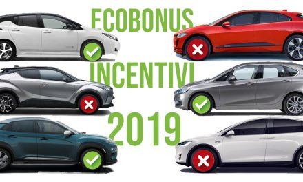 Le autovetture che beneficiano dell'ecobonus