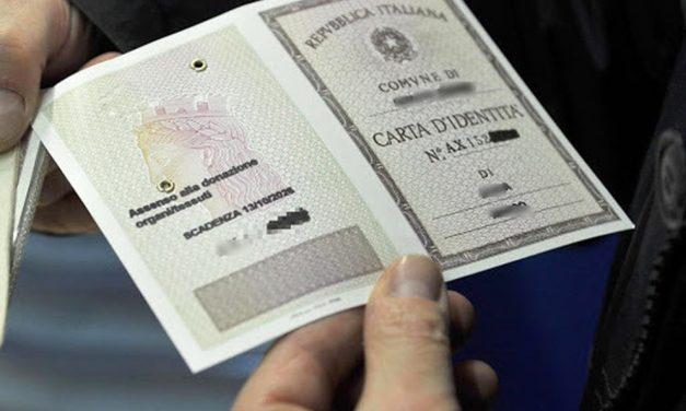 DOCUMENTI DI IDENTITÀ/RICONOSCIMENTO VALIDI FINO AL 31 AGOSTO