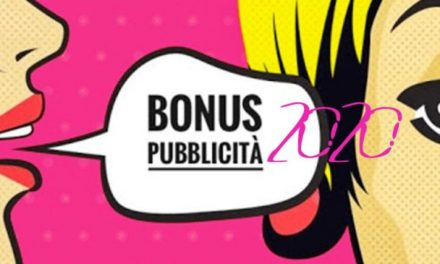 """IL BONUS PUBBLICITÀ 2020 SECONDO IL """"CURA ITALIA"""""""
